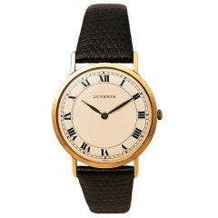 JUVENIA Yellow Gold Dress Watch with Roman numerals circa 1960s