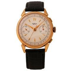 ALEX KÜNING Yellow Gold Chronograph Wristwatch
