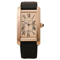 CARTIER White Gold Tank Wristwatch