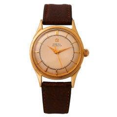 OMEGA Yellow Gold Automatic Wristwatch circa 1950s