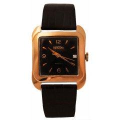 HERODIA Yellow Gold Rectangular Automatic Wristwatch