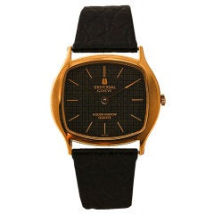 UNIVERSAL Yellow Gold Golden Shadow Quartz Wristwatch