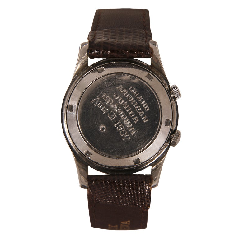 GIRARD-PERREGEAUX Stainless Steel Center Seconds Wristwatch with Alarm and Presentation Inscription 2