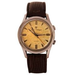 GIRARD-PERREGEAUX Stainless Steel Center Seconds Wristwatch with Alarm and Presentation Inscription