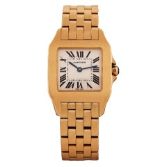 CARTIER Lady's Yellow Gold Santos Demoiselle Wristwatch
