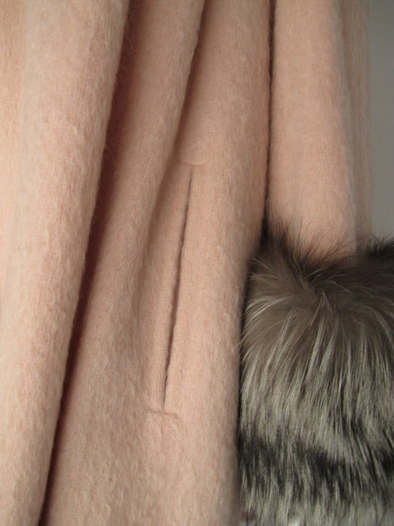 Christian Lacroix Haute Couture Mohair Coat w/Fox Fur Trim 4