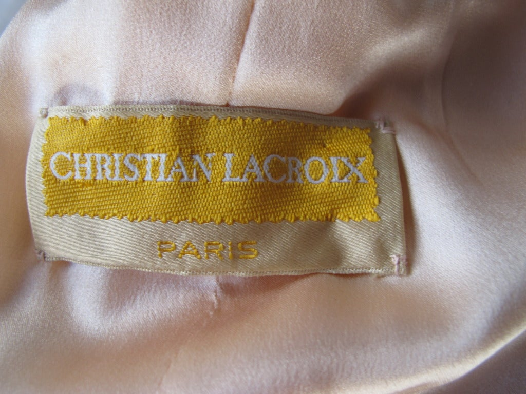 Christian Lacroix Haute Couture Mohair Coat w/Fox Fur Trim 6