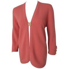 Chanel Cashmere Cardigan w/Rhinestone Buttons