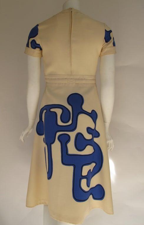 1960s Louis Feraud Wool Geometric Dress 2