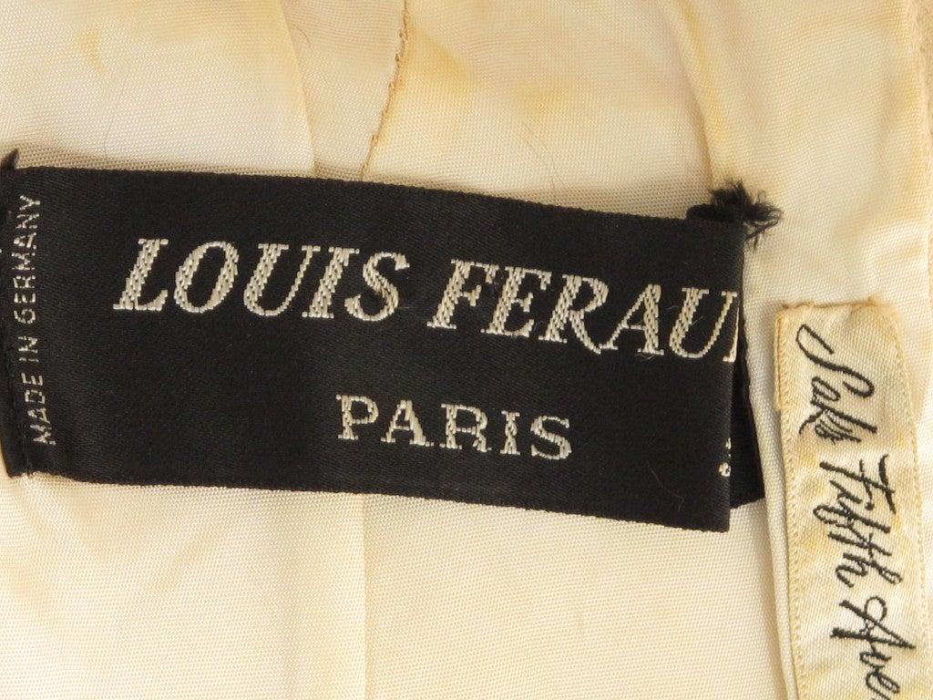 1960s Louis Feraud Wool Geometric Dress 6