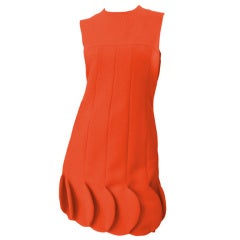 60s Vintage Pierre Cardin Orange Bubble Dress