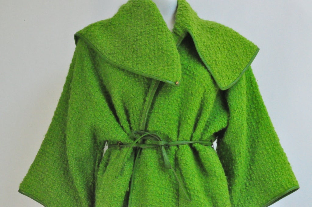 Vintage Bonnie Cashin for Sills Boucle Wool Coat, c. 1960s 3