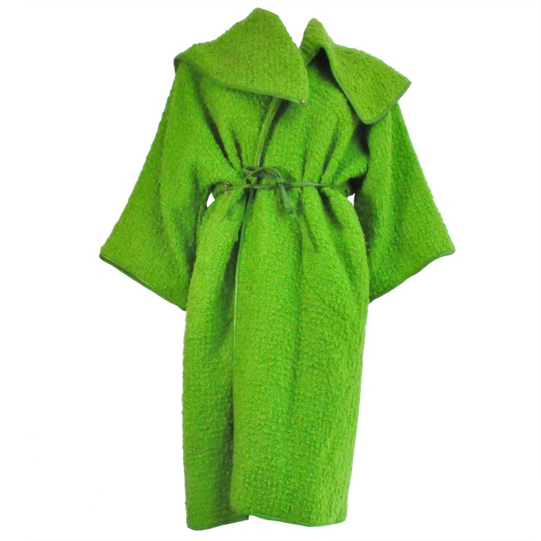 Vintage Bonnie Cashin for Sills Boucle Wool Coat, c. 1960s 1