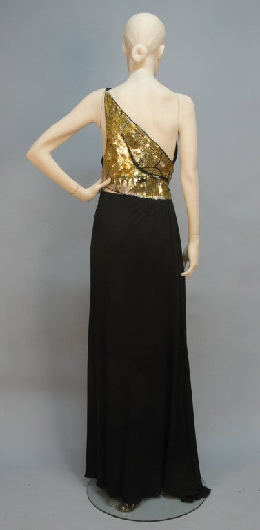 Geoffrey Beene One-Shoulder Evening Gown w/Sequin Detail image 2