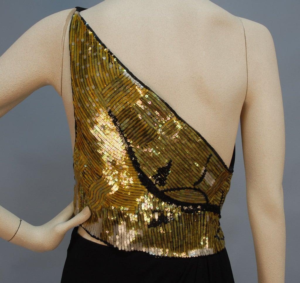Geoffrey Beene One-Shoulder Evening Gown w/Sequin Detail image 3