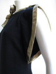 Pauline Trigere Starlet Gown w/Gold Lame Piping & Bow thumbnail 6