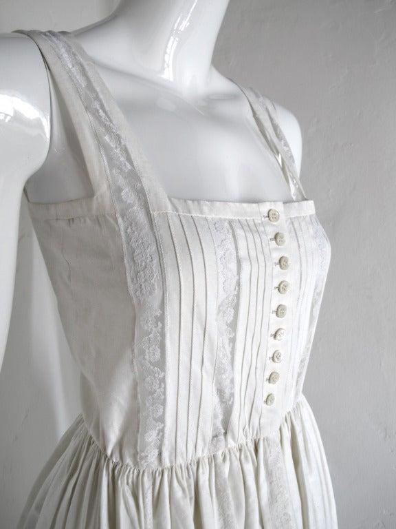 Women's Lanvin Haute Couture Cotton and Lace Sun Dress For Sale