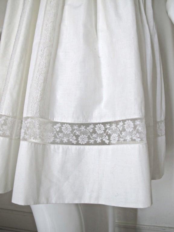 Lanvin Haute Couture Cotton and Lace Sun Dress For Sale 1