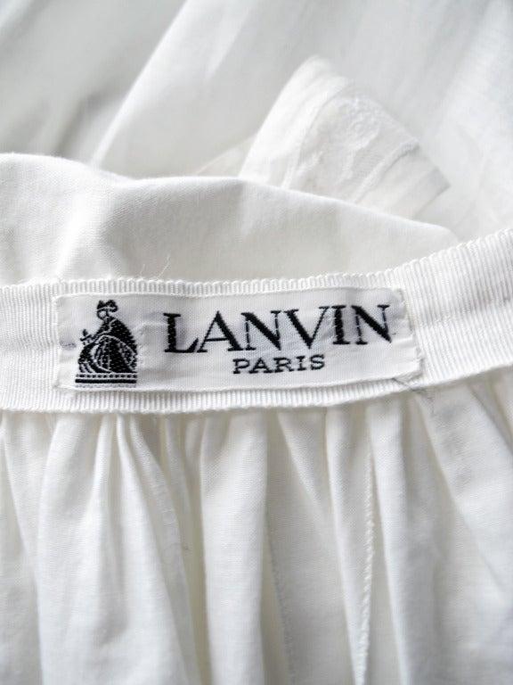 Lanvin Haute Couture Cotton and Lace Sun Dress For Sale 2