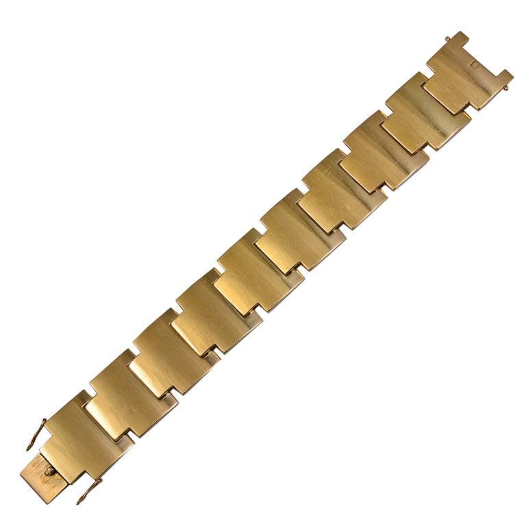 Georg Jensen Flexible Gold Link Bracelet