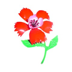1960s vintage enamel Flower Power  brooch
