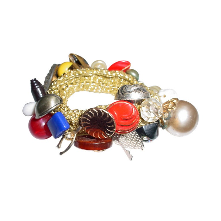 vintage button bracelet at 1stdibs