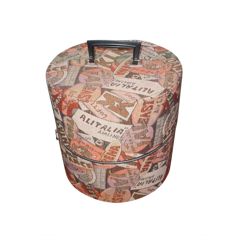 Vintage Airlines Wig Or Hat Carrying Case At 1stdibs