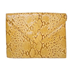 1940s Elizabeth Arden snake embossed envelope clutch bag