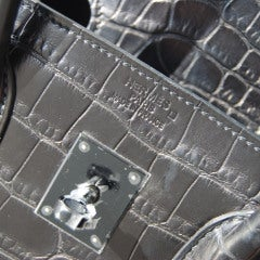 35cm Hermès So Black Alligator Birkin Bag Handbag thumbnail 4