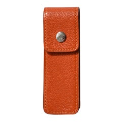 Hermès Orange Chevre Leather Gum Case
