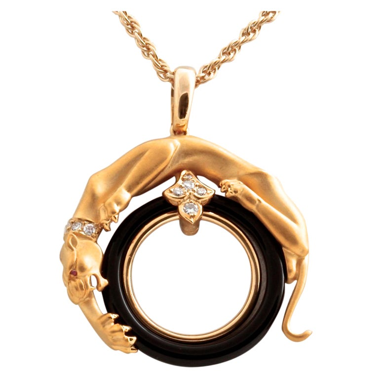 Carrera Y Carrera Panther Diamond Onyx Ruby Yellow Gold