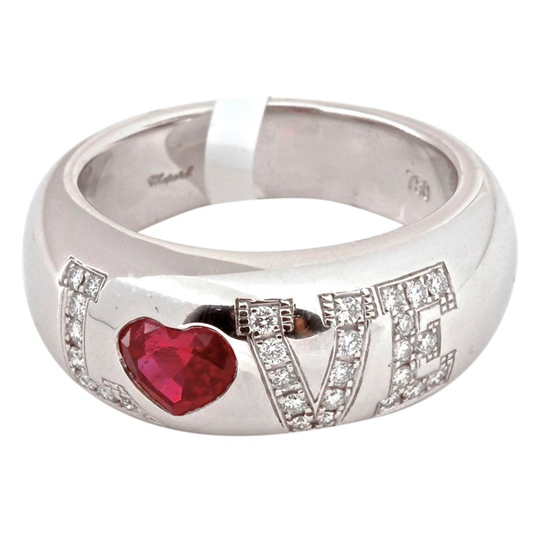 chopard ruby and white gold ring at 1stdibs