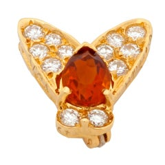 VAN CLEEF & ARPELS Diamond and Citrine  Fly Pin