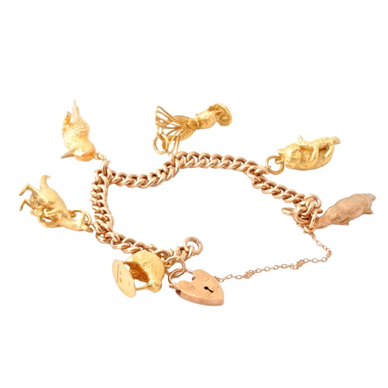 australian animal gold charm bracelet at 1stdibs