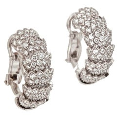 "ROBERTO COIN Diamond Gold ""Cobra"" Earrings"
