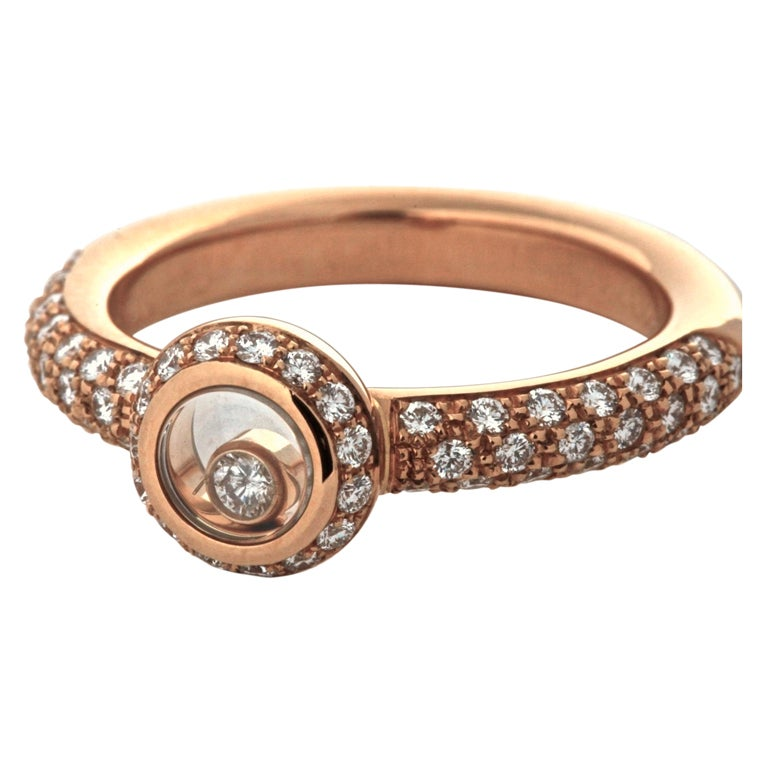chopard yellow gold happy diamonds ring at 1stdibs