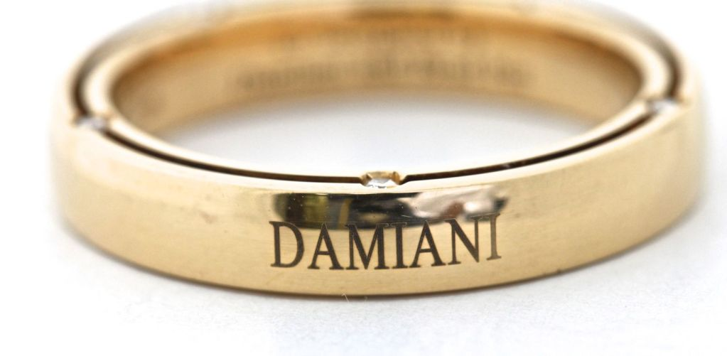 DAMIANI 10 Diamond Gold Unity Ring For Sale 1