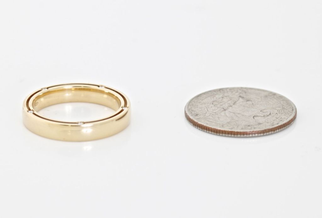 DAMIANI 10 Diamond Gold Unity Ring For Sale 2