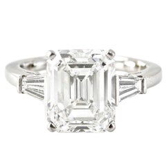 CARTIER 4.48 Carat Diamond Platinum Ring