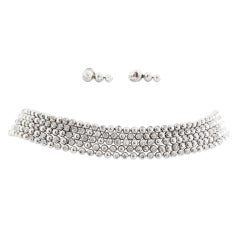 CARTIER Diamond Gold Choker and Earring Set