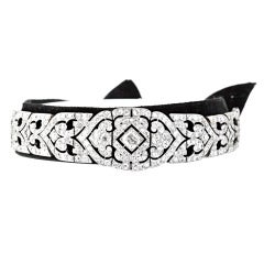 The Age of the Vanderbilts Diamond Black Velvet Choker/Bracelet/Tiara