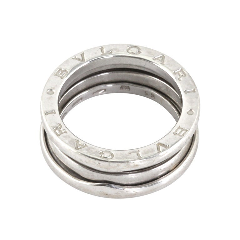 Bvlgari Silver Ring For Sale
