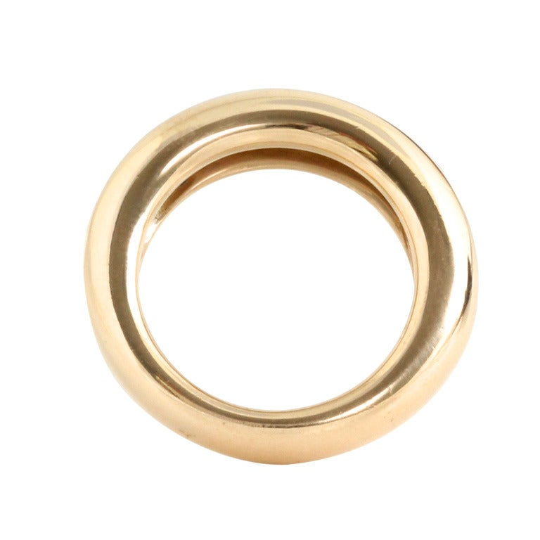 cartier thick gold ring at 1stdibs