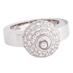 "CHOPARD ""Happy Diamond"" White Gold and Diamond Ring"