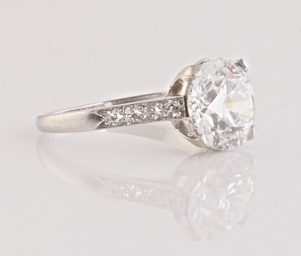 CARTIER 1930's Diamond Engagement Ring image 2