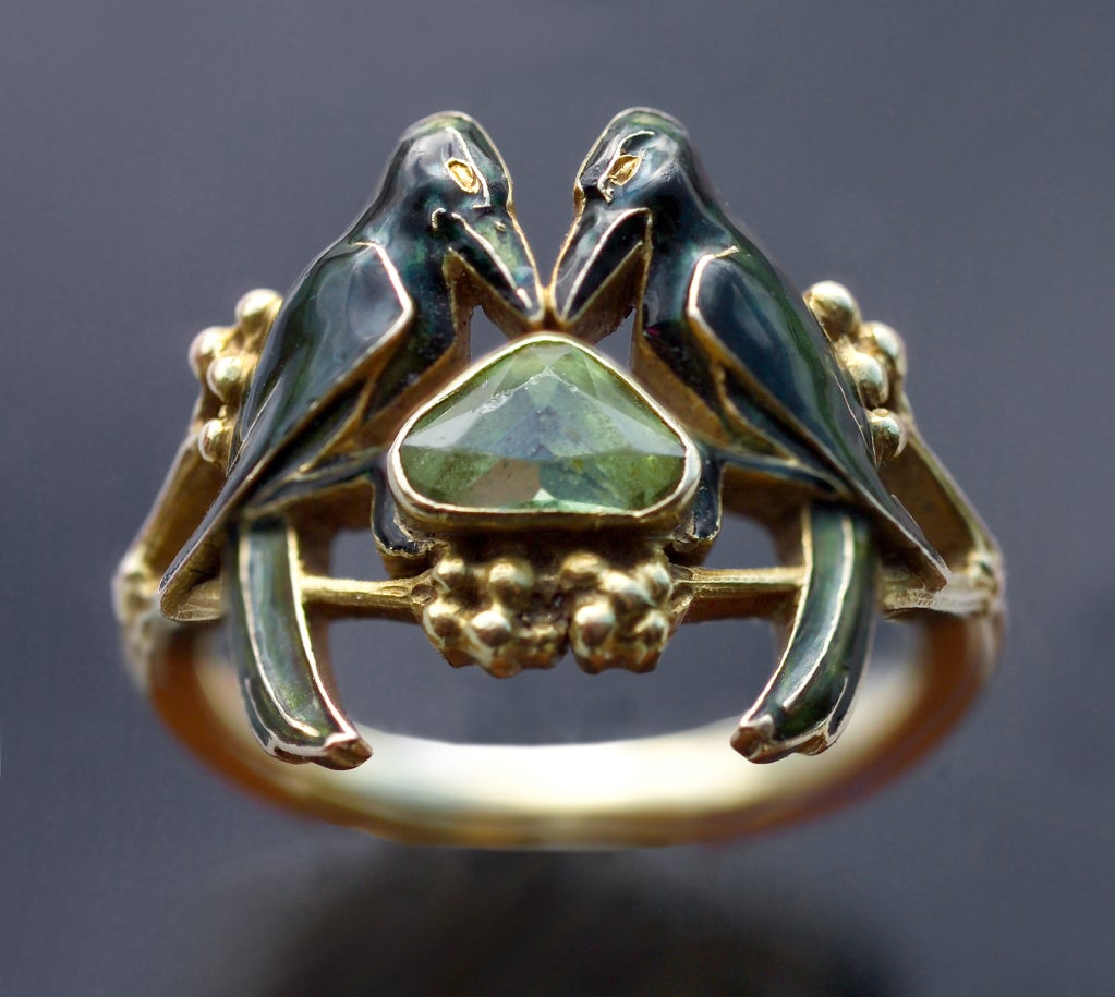 rene lalique rare betrothal art nouveau ring at 1stdibs