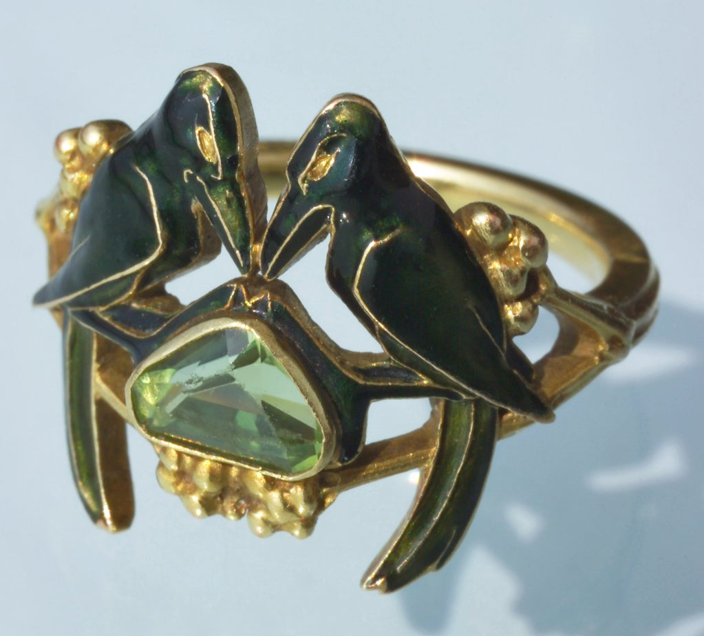 rene lalique betrothal nouveau ring at 1stdibs