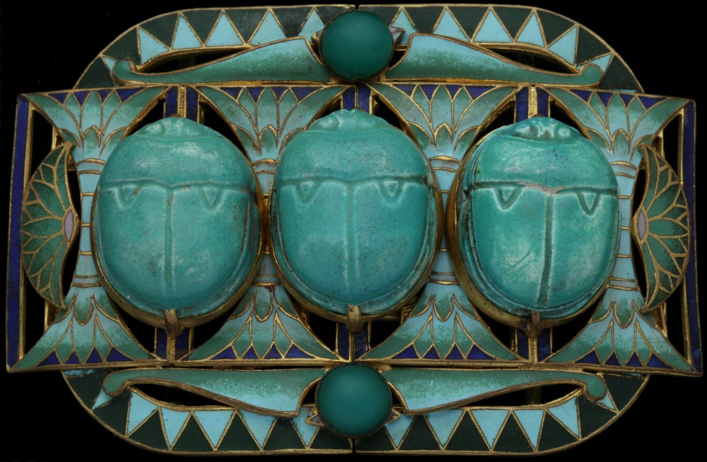 The scarab is a symbol of rebirth & good fortune.