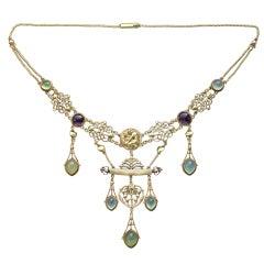 HENRY WILSON The Apollo Rare Art Nouveau Necklace