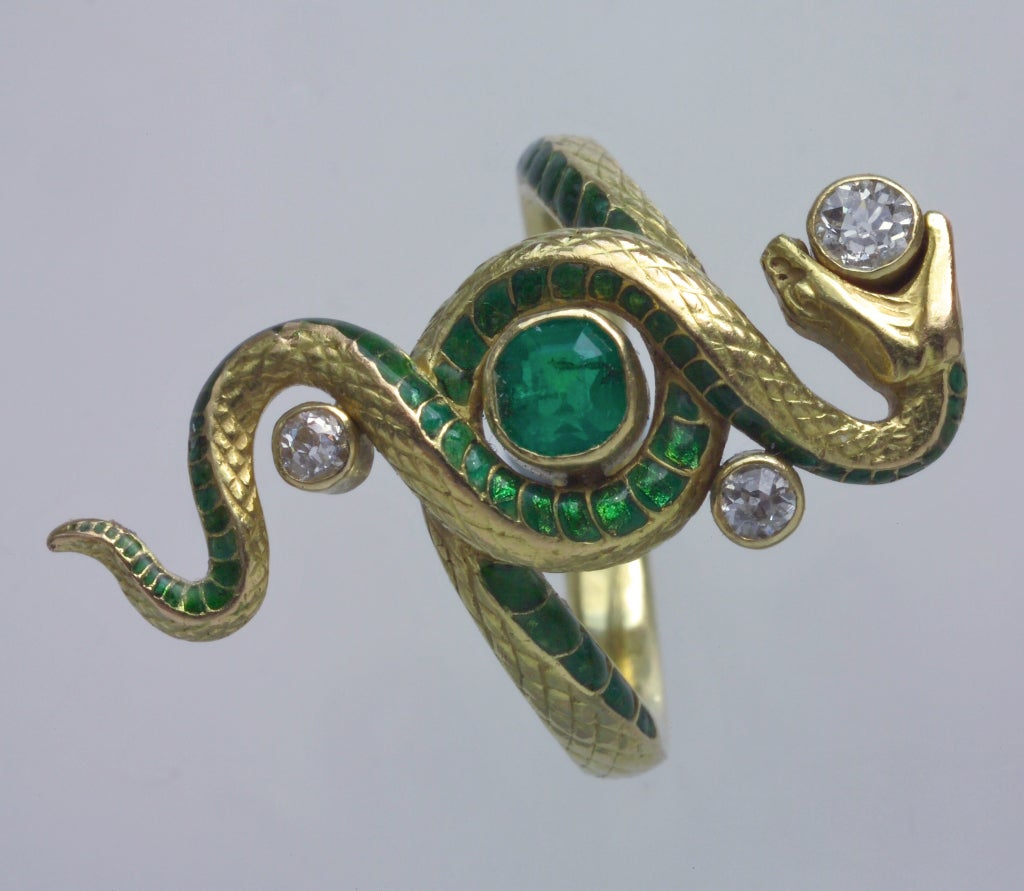 paul briancon nouveau snake ring at 1stdibs